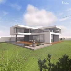 Modernes Wohnhaus Mit Flachdach By Www Flow Architektur De