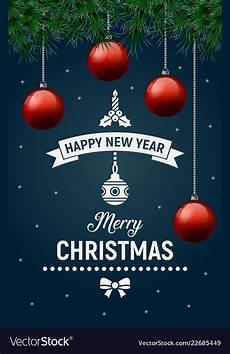 merry christmas poster happy new year royalty free vector