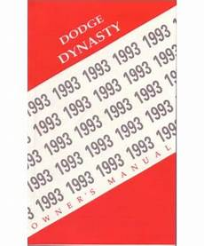 auto repair manual free download 1993 dodge dynasty navigation system 1993 dodge dynasty owners manual
