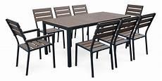 Ensemble Table Et Chaise De Jardin Aluminium Exterieur