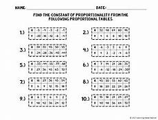 proportional or non proportional relationship tables cut
