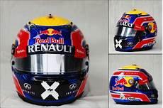 webber s helmet for his formula 1 race
