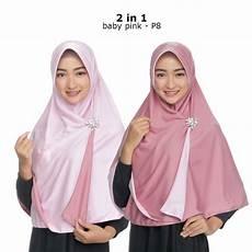 Dalaman Jilbab Rajut 2 Warna Voal Motif