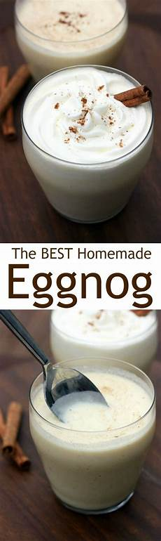 homemade eggnog recipe eggnog treats homemade eggnog