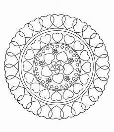 mandala coloring pages hearts 17922 to print this free coloring page 171 free mandala to color hearts 187 click on the printer icon