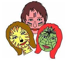 Malvorlagen Gesichter Quiz Faschingsseiten Im Kidsweb De