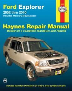 motor repair manual 2005 mercury mountaineer on board diagnostic system ford explorer mercury mountaineer haynes repair manual 2002 2010 hay36025