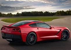 2017 Chevrolet Corvette Rear View Red Color Taillights