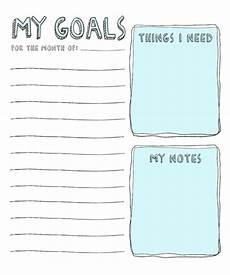 8 free goal setting worksheet printables tip junkie