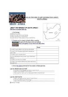 english worksheets webquest south africa geography flag history