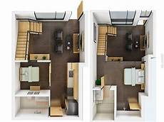 50 Denah Rumah Minimalis 3d 3 Kamar Tidur 2 Lantai Dan