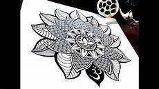 blumen mandala lotus mandala time lapse drawing