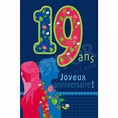 carte joyeux anniversaire 19 ans cadeau maestro
