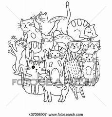 Katzen Malvorlagen Rom Ausmalbilder Katze Muster