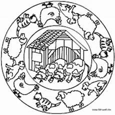 Ausmalbilder Bauernhof Mit Tieren Hunde Und Katzen Mandalas Im Kidsweb De