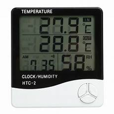 Image Clock Temperature Humidity Meter Electronic by 12 24h High Accuracy Lcd Digital Thermometer Hygrometer