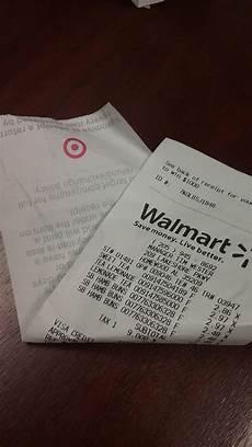 walmart receipt paper my walmart receipt was printed target paper rebrn com