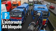 Prix Du Gazole Des Routiers Bloquent L Autoroute A4