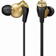 sony bass in ear headphones mdrxb60ex gld b h photo