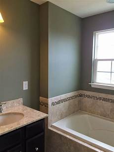 master bath raintree green this looks great with the tile and with the charcoal in the