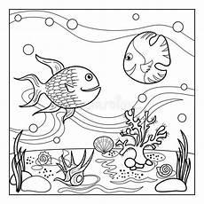 farbtonseitenentwurf der unterwasserwelt f 252 r kinder vektor