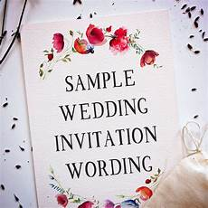 Inviting For Wedding Wordings
