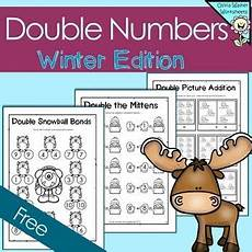 addition worksheets 8883 numbers winter themed free doubling numbers winter math activities winter theme