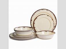 Dinnerware Set for 4 ? Melamine 12 Piece Dinner Dishes Set
