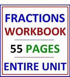 fraction worksheets 3952 fractions workbook 55 pages fractions worksheets cover pages