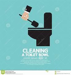 Nettoyage D Une Cuvette Des Toilettes Illustration De