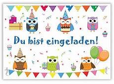 12 einladungskarten zum kindergeburtstag quot eulen
