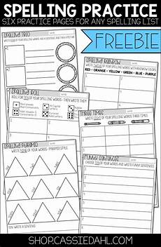 spelling worksheets 22534 this freebie contains six practice pages that you can use with any spelling list these sheets