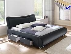 bett mit lattenrost und matratze polsterbett lando bett 180x200 cm schwarz mit lattenrost