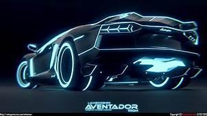 Tron Lamborghini Aventador Rear