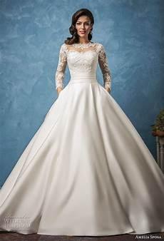 princess aline sleeved open back wedding dresses almette amelia sposa 2017 wedding dresses royal blue bridal