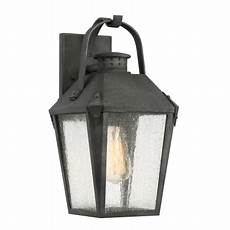 quoizel crg8408mb mottled black carriage single light 15 quot tall outdoor lantern style wall sconce