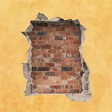 trou dans le mur de briques avec l espace de copie image