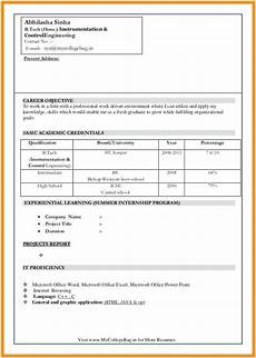 fresher resume format download in ms word free download