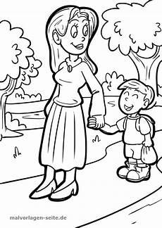 Malvorlagen Seite De Cor Malvorlage Mutter Und Familie Ausmalbilder