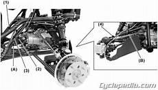 kymco mxu 500 atv swingarm solid rear axle service manual printed by cycleped ebay