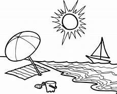 Malvorlagen Meer Und Strand Lyrics Kostenlose Malvorlage Sommer Sommertag Am Strand Zum Ausmalen