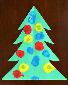 Basteln Kleinkinder Weihnachten - pom pom painting tree craft for toddlers