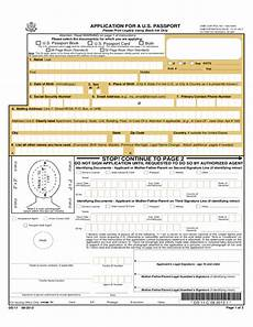 united states passport application form application for a united states passport free download