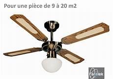 Ventilateur Luminaire De Plafond Bali Noyer Laiton Farelek