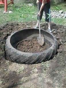 comment faire un bassin exterieur construire ce bassin avec juste un pneu bricolage maison