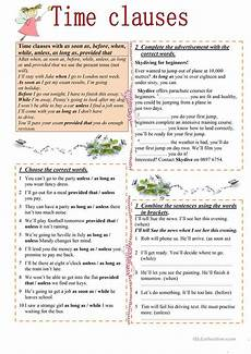 time clauses worksheets 2951 14 free esl conditionals conditional phrases e g unless provided that as as worksheets