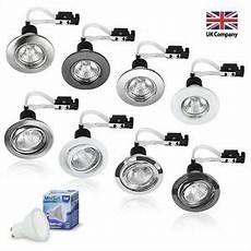 6 led gu10 240v mains fixed or tilt recessed ceiling spotlights downlights new ebay