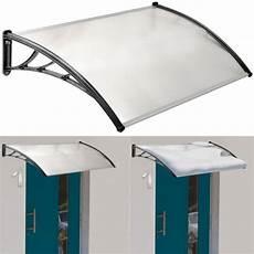 auvent de porte marquise d accueil 80x120 cm polycarbonate