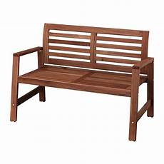 196 Pplar 214 Bench With Backrest Outdoor Ikea