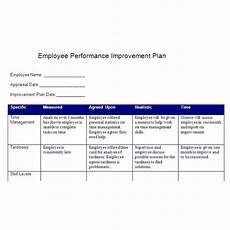 create a performance improvement plan based smart goals free tips template download